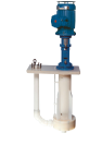 Vertical plastic pump