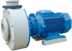 Plastic close-coupled pump